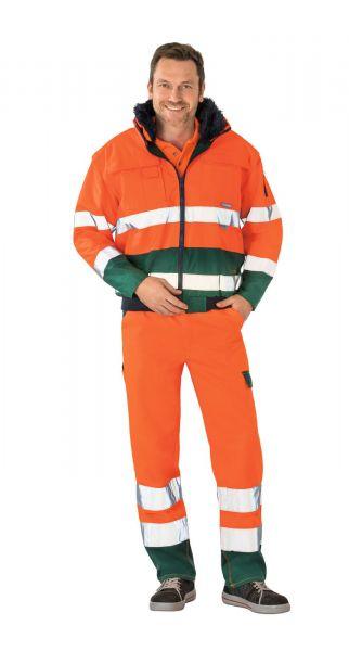 Planam Comfortjacke Warnschutz orange/grün