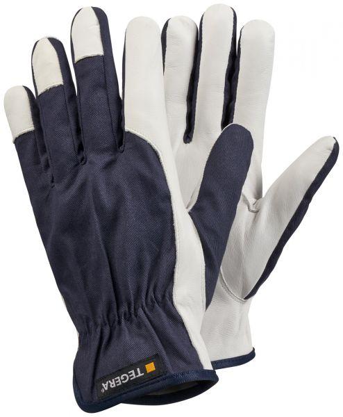TEGERA® 119 Arbeitshandschuhe Leder TEGERA® 119 Lederhandschuh ungefüttert 0,6-0,7 mm Vollnarben Ziegenleder Baumwolle verstärkter Zeigefinger verstärkte Fin