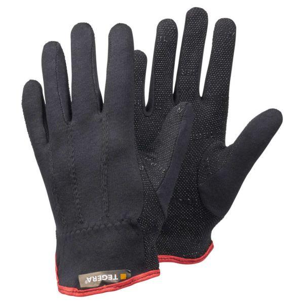 Tegera 8125 Baumwollhandschuhe schwarz mit Noppen