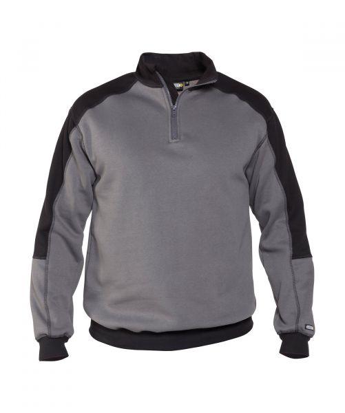 DASSY® Basiel Zweifarbiges Sweatshirt zementgrau/schwarz