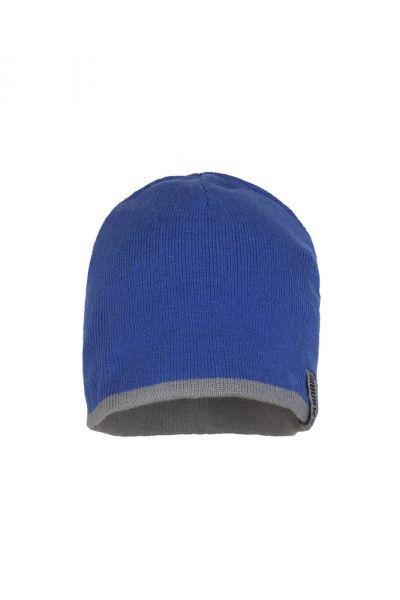 Planam Strickmütze 2-farbig Zubehör kornblau/zink