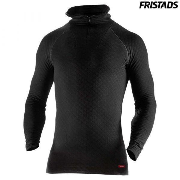 Fristads Zipper-T-Shirt Langarm 742 PC schwarz