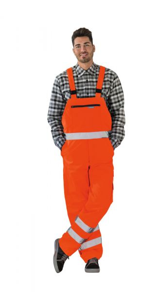 Planam Winterlatzhose Warnschutz uni uni orange