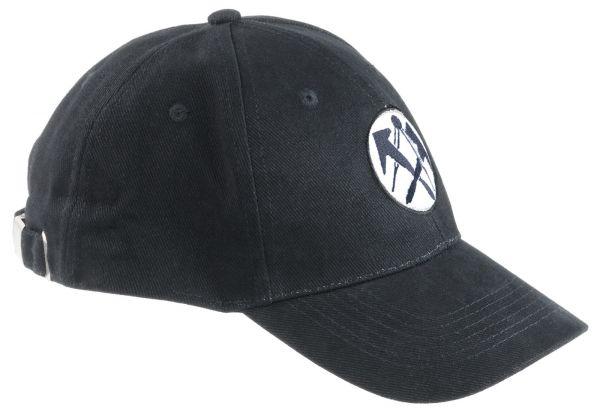 FHB LUIS Dachdecker-Cap uni schwarz